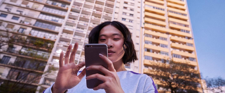 Nubank's mobile app header