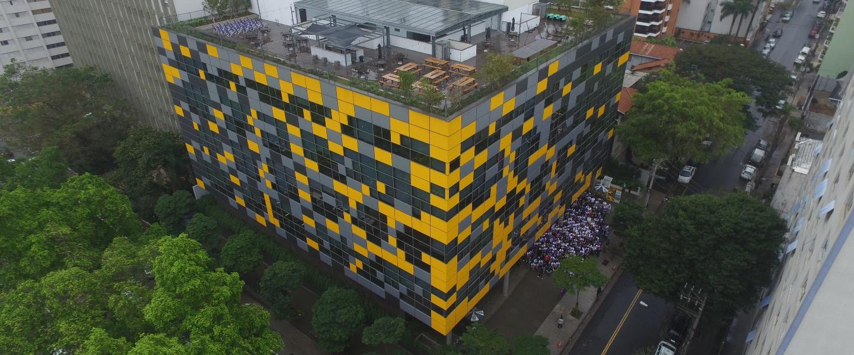 Nubank's São Paulo headquarters seen from above.